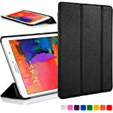 ForeFront Cases New Leather Folding Case Cover for Samsung Galaxy Tab PRO 8.4 T320 (Released March 2014) – Full device protection and Smart Auto Sleep Wake function with 3 YEAR FOREFRONT CASES WARRANTY