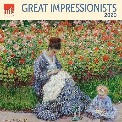 Great Impressionists Mfa Boston Calendario Da Parete 2020