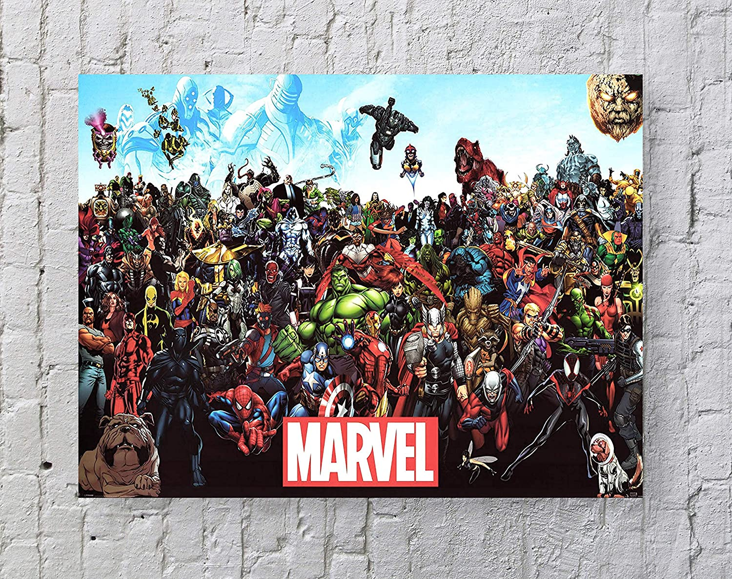 LLp Marvel Poster Standard Size | 18-Inches by 24-Inches | Marvel Comics Universe Characters Wall Poster Print