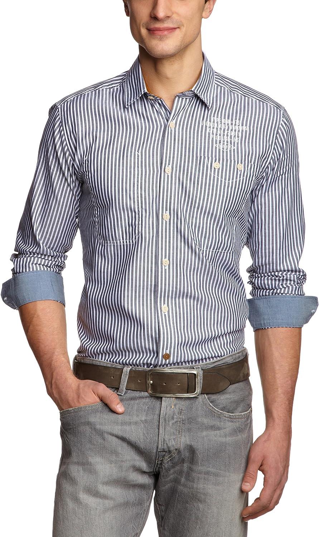 Jack & Jones Ben Camisa, (Lily White/Stripes Black Navy), M para Hombre: Amazon.es: Ropa y accesorios