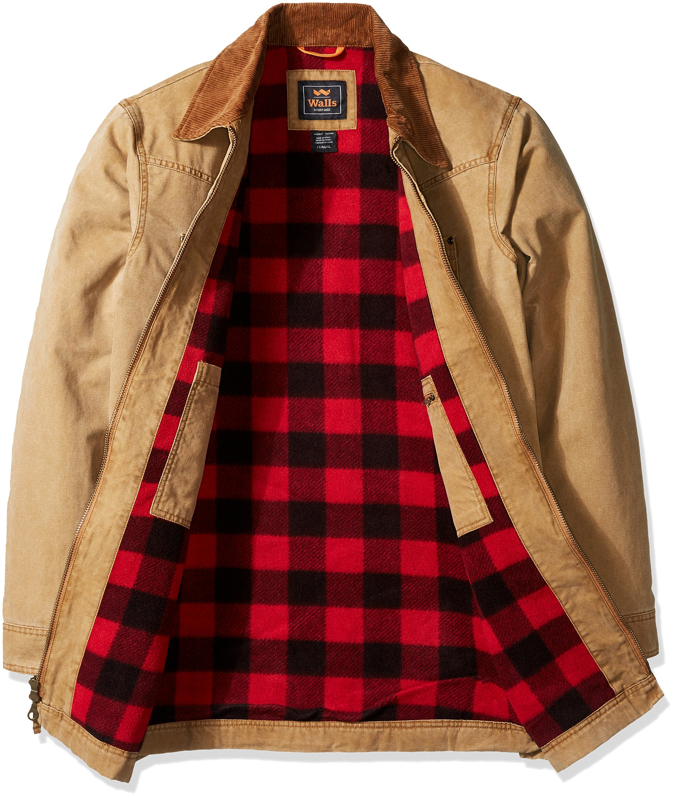 Walls Men's Big Redford Vintage Duck Barn Coat, Washed Pecan, 2X Tall by Walls (Image #3)