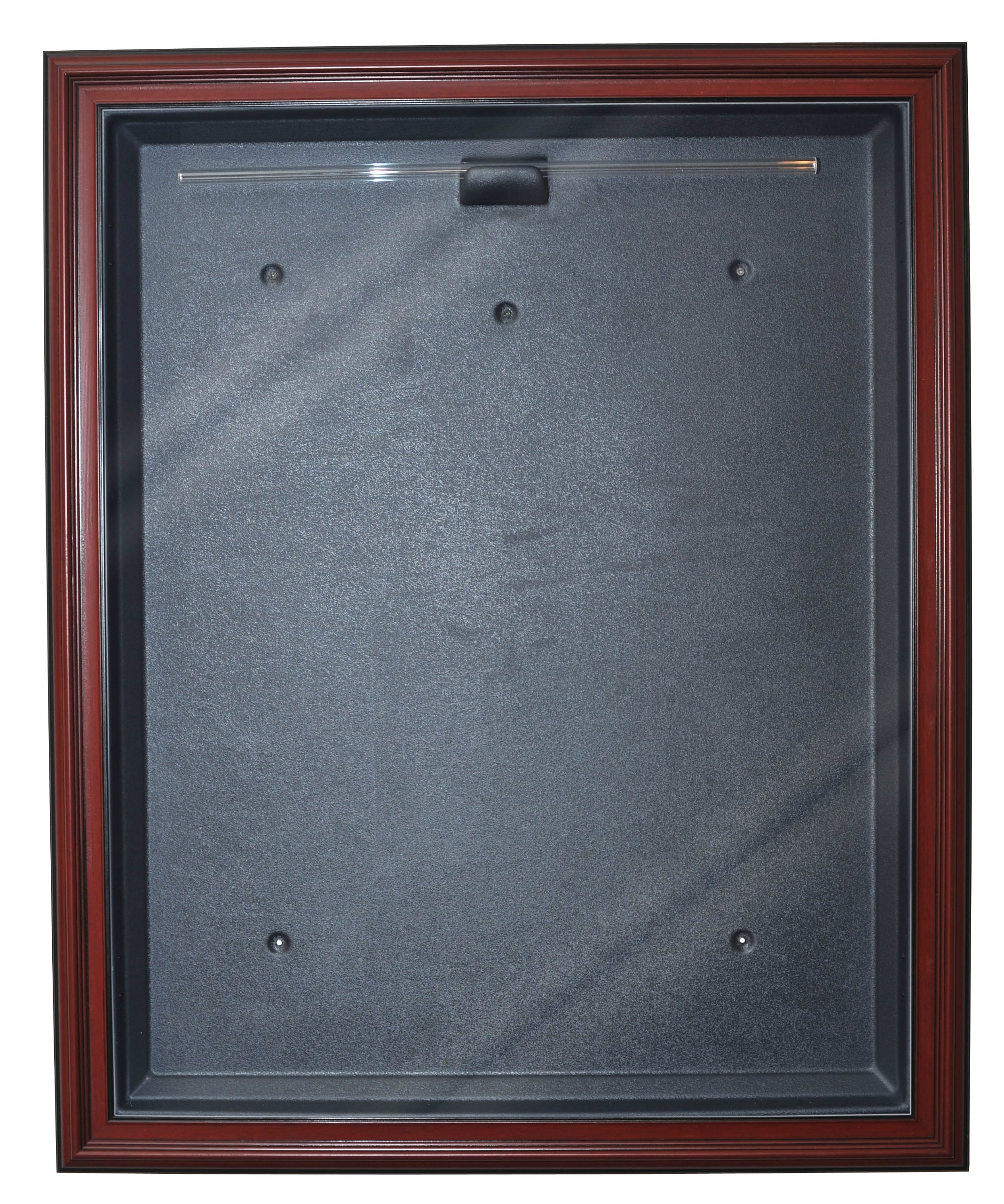 Basketball Cabinet Style Jersey Display with Museum Quality UV Upgrade (Mahogany)