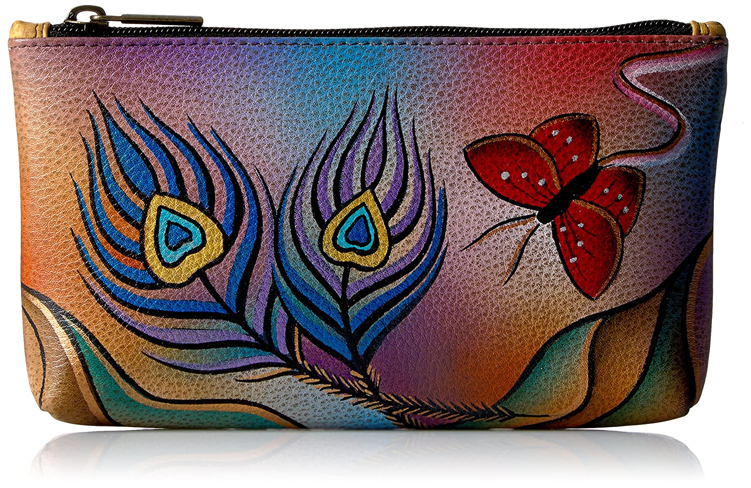 Anna by Anuschka Hand Painted Leather | Medium Organizer Pouch | Cosmetic Case
