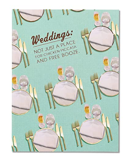 Amazon american greetings funny free booze wedding american greetings funny free booze wedding congratulations card with foil 5856820 m4hsunfo