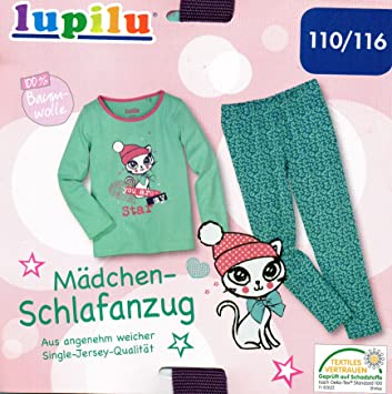 33fea7936 Lupilu girls' long pyjamas for toddlers, light blue, size 110/116 ...