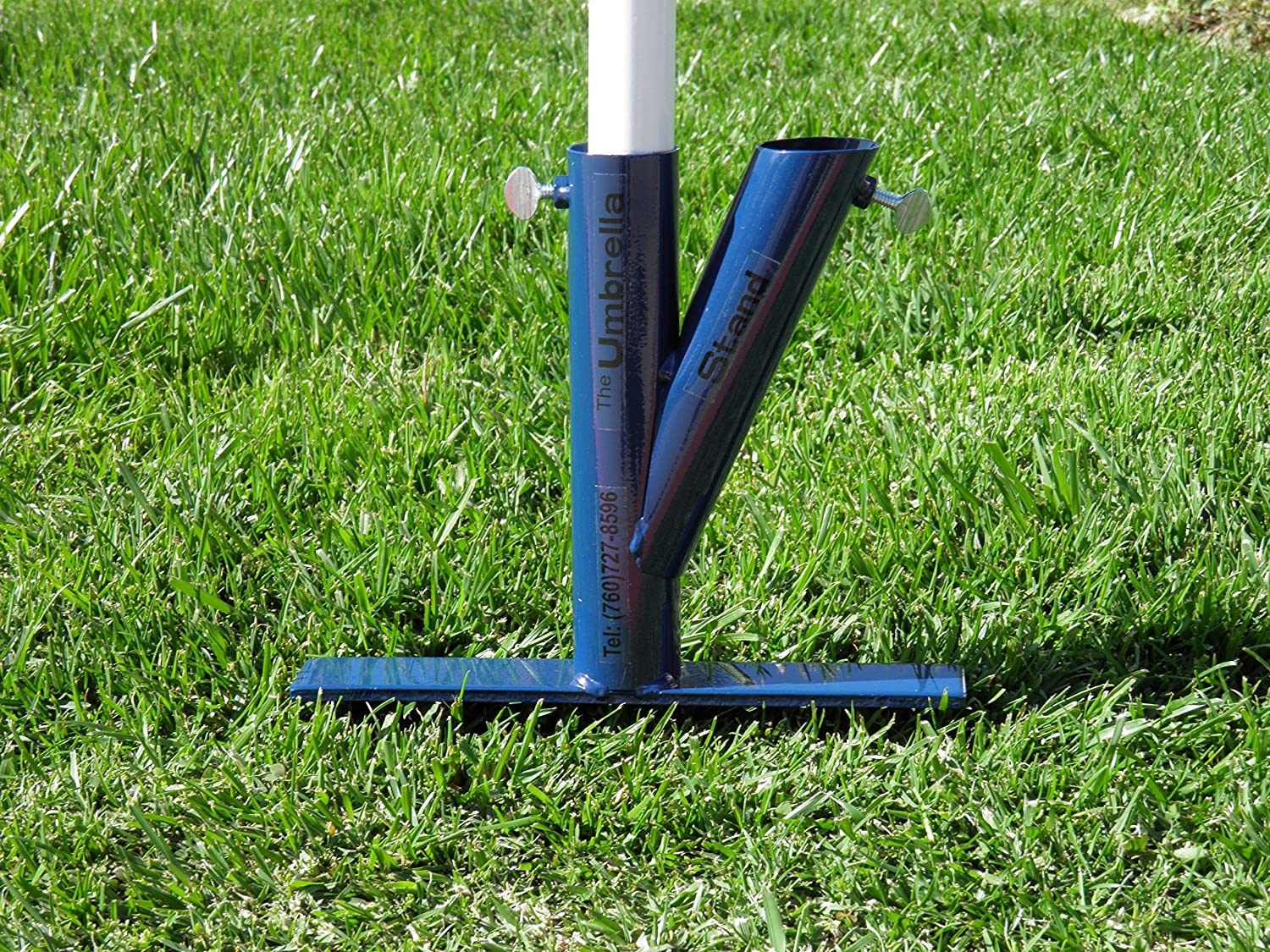 Amazon.com : Original Umbrella Stand UMBSTDBLUE, Blue : Patio Umbrella  Bases : Garden U0026 Outdoor