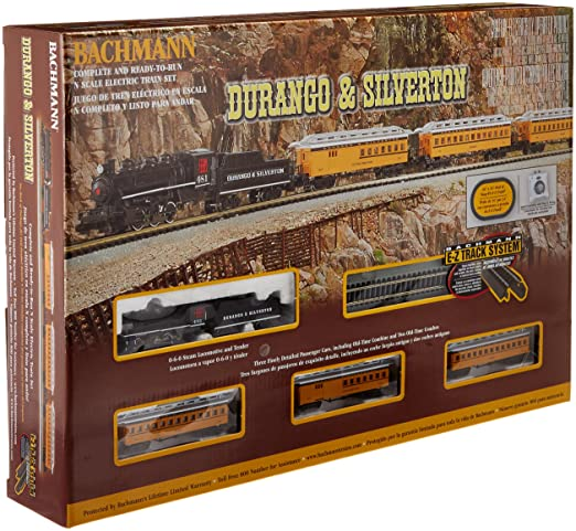 bachmann industries durango and silverton n scale ready to run electric train set designed