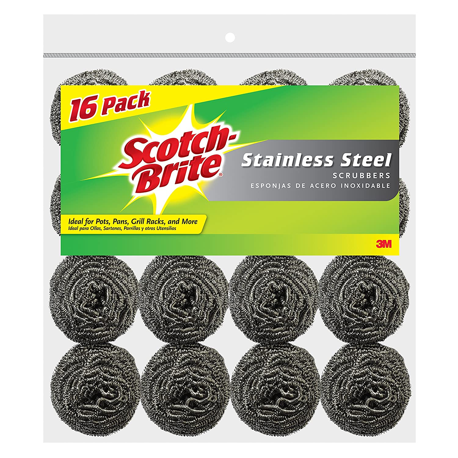 Amazon.com: Scotch-Brite Stainless Steel Scrubbing Pad, 2-Pads/Pk, 24-Packs (48 Pads Total): Health & Personal Care
