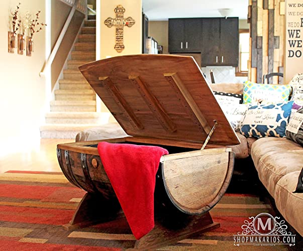 Wine Barrel Coffee Table, Coffee Table, Whiskey Barrel Coffee Table, Wine Barrel Table, Wine Barrel Furniture