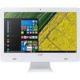 """Acer Aspire AIO AC20-720 Notebook, Display 19.5"""" W HD LED, Processore Intel Celeron J3060, RAM 4 GB DDR3, 500 GB HDD, Bianco"""