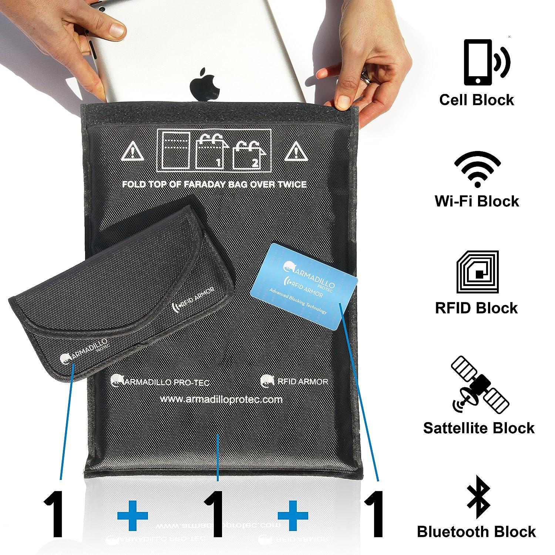 Faraday Bag Set with Black Phone Bag