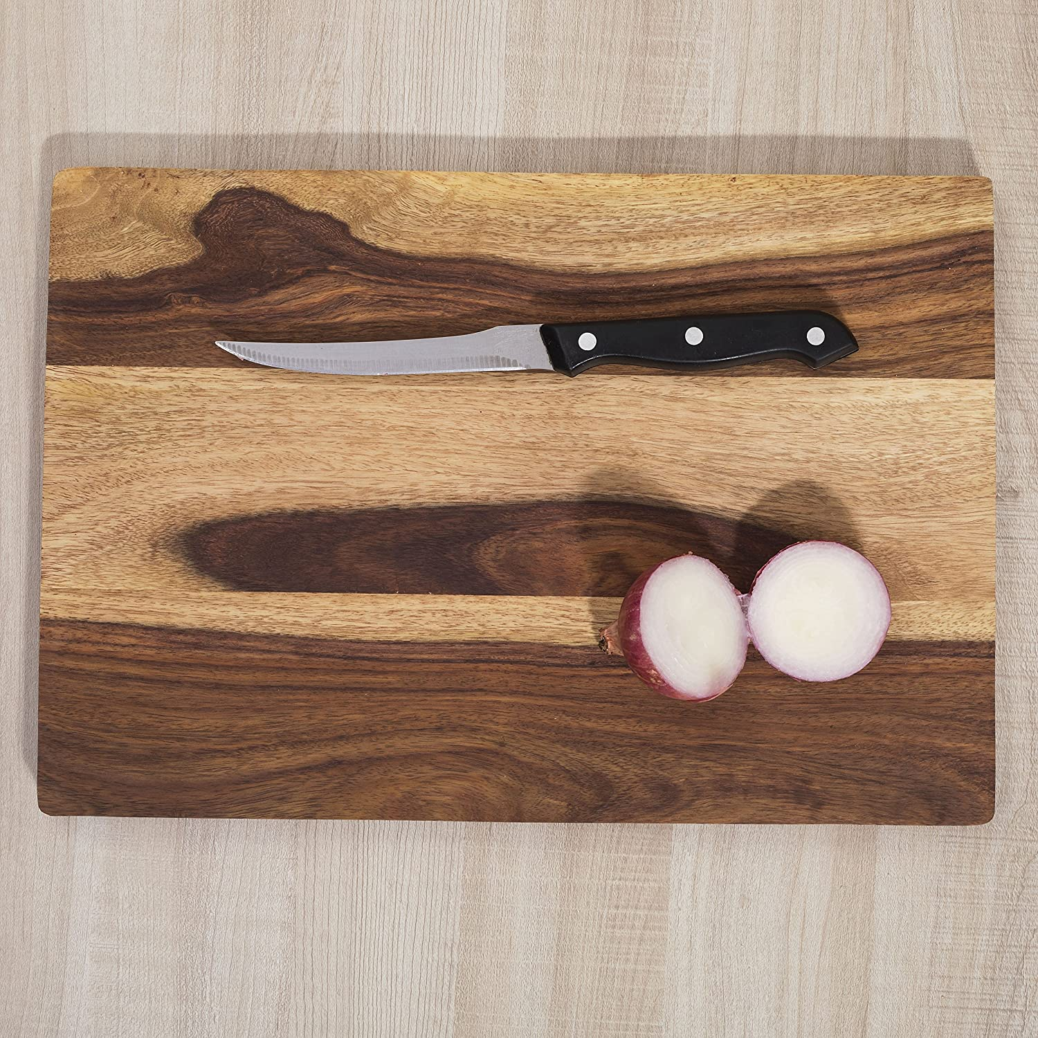 Rusticity Wood Chopping/Cutting Board for Food Prep, Meat, Vegetables, Bread etc.| Handmade |(14x9.5 in)
