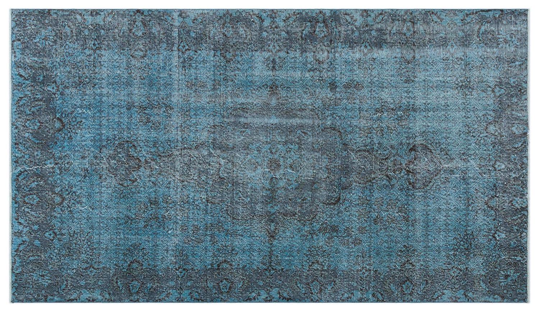 Bespoky ビンテージ 手織 ラグ 青 ミディアムサイズ 150 X 262 Cm   B07HL77FFY