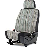 Gray Saddleblanket Low Back Bucket Seat Cover W/Headrest Cover