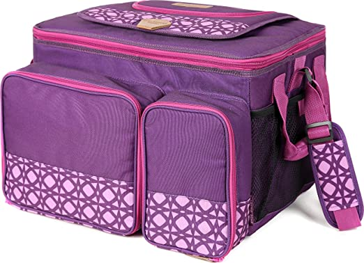 Arctic Zone Hot//Cold Insulated Collapsible Picnic Cooler Purple