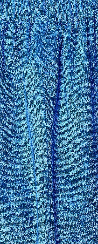 Arus Saunakilt f/ür Damen 100/% Bio-Baumwolle-Frottee mit Gummizug und Klettverschluss Gr/ö/ße Bordeaux Farbe L//XL
