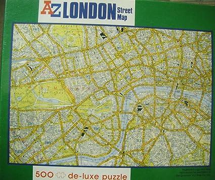 Az London Street Map.Amazon Com London Az Street Map 500 De Luxe Puzzle Toys Games