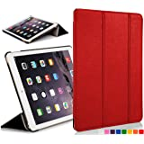 Forefront Cases® Apple iPad Air 1st Generation Folding Smart Case Cover Sleeve – Full device protection and Smart Auto Sleep Wake function (RED)
