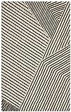 "Rivet Wool Running Rug, 2' 6"" x 8', Grey, Charcoal"