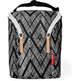 Skip Hop Grab and Go Double Bottle Bag- Zig Zag Zebra