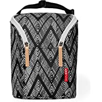 Skip Hop Grab and Go Double Bottle Bag, Zig Zag Zebra