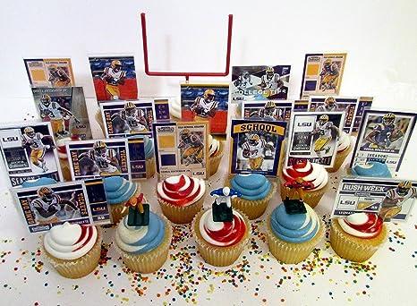 Amazon Com Cupcake Topper Lsu Louisiana State University Tigers