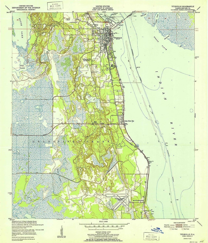 Topo Map Florida.Amazon Com Yellowmaps Titusville Fl Topo Map 1 24000 Scale 7 5 X