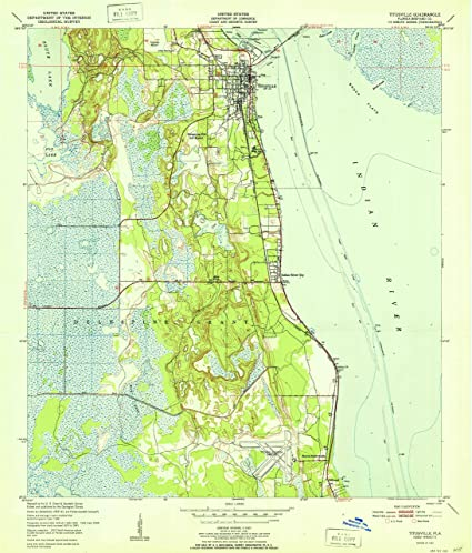 Amazon Com Yellowmaps Titusville Fl Topo Map 1 24000 Scale 7 5 X