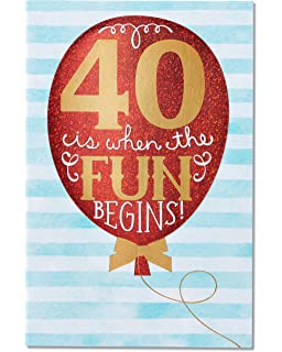 Amazon 10 spanish birthday greeting cards office products american greetings 40th birthday card with foil m4hsunfo