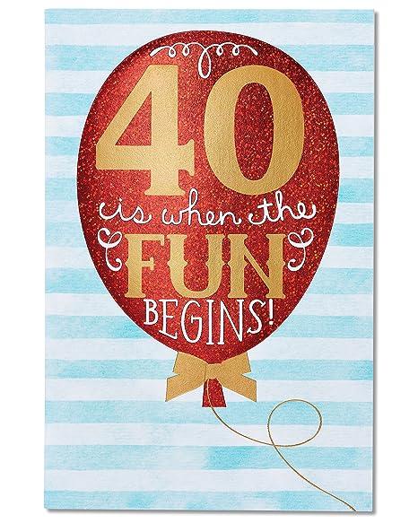 Amazon.com: american greetings 40th Tarjeta de cumpleaños ...