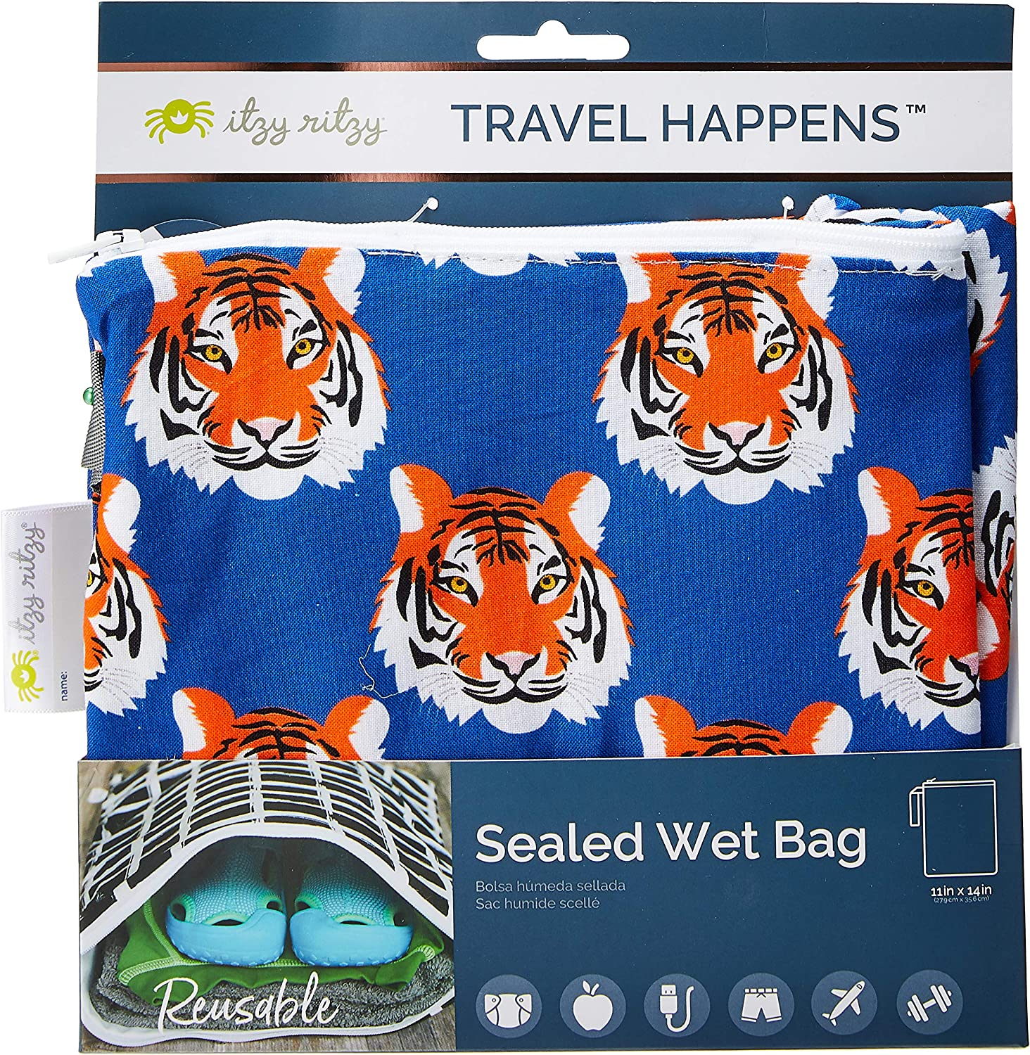Travel Happens Bolsa sellada h/úmeda mediana Roar Itzy Ritzy