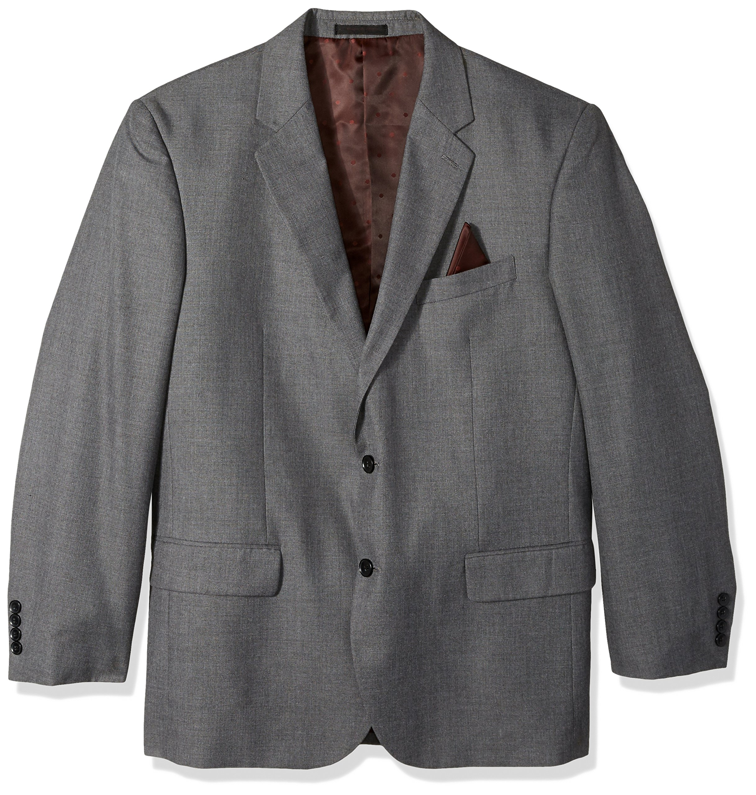 Alexander Julian Colours Men's Big and Tall Single Breasted Modern Fit 2 Button Notch Lapel Suit Separate Jacket, Dark Gray Sharkskin, 56 Long