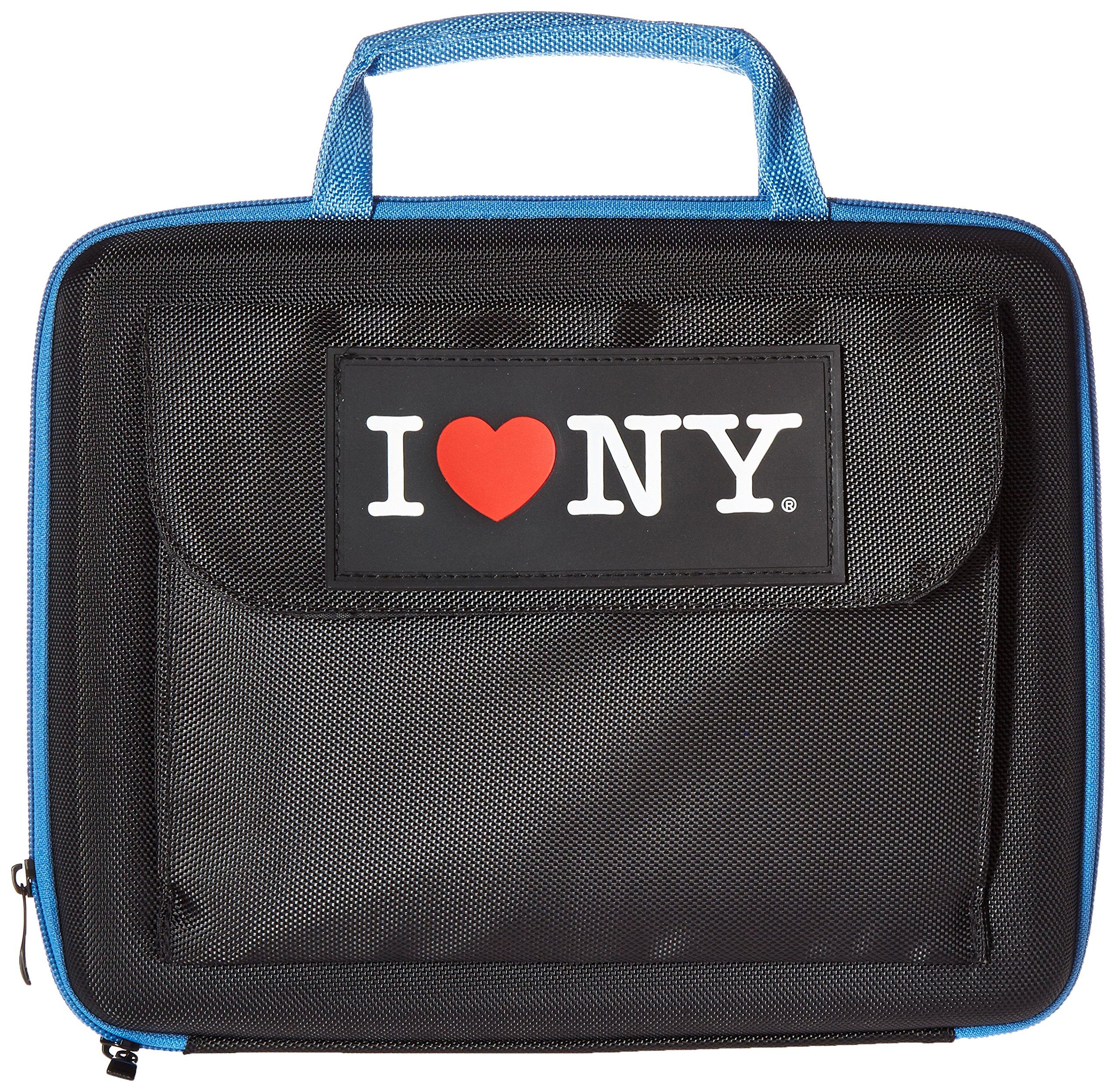 I Love NY Sleek Netbook Case, Black/Blue (ILNLAP1160KB) by I Love NY (Image #1)