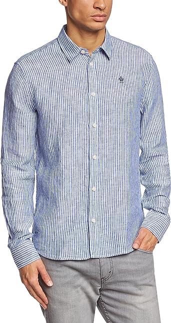 Pepe Jeans Fortune - Camisa Casual para Hombre, Talla L, Color Azul: Amazon.es: Ropa y accesorios