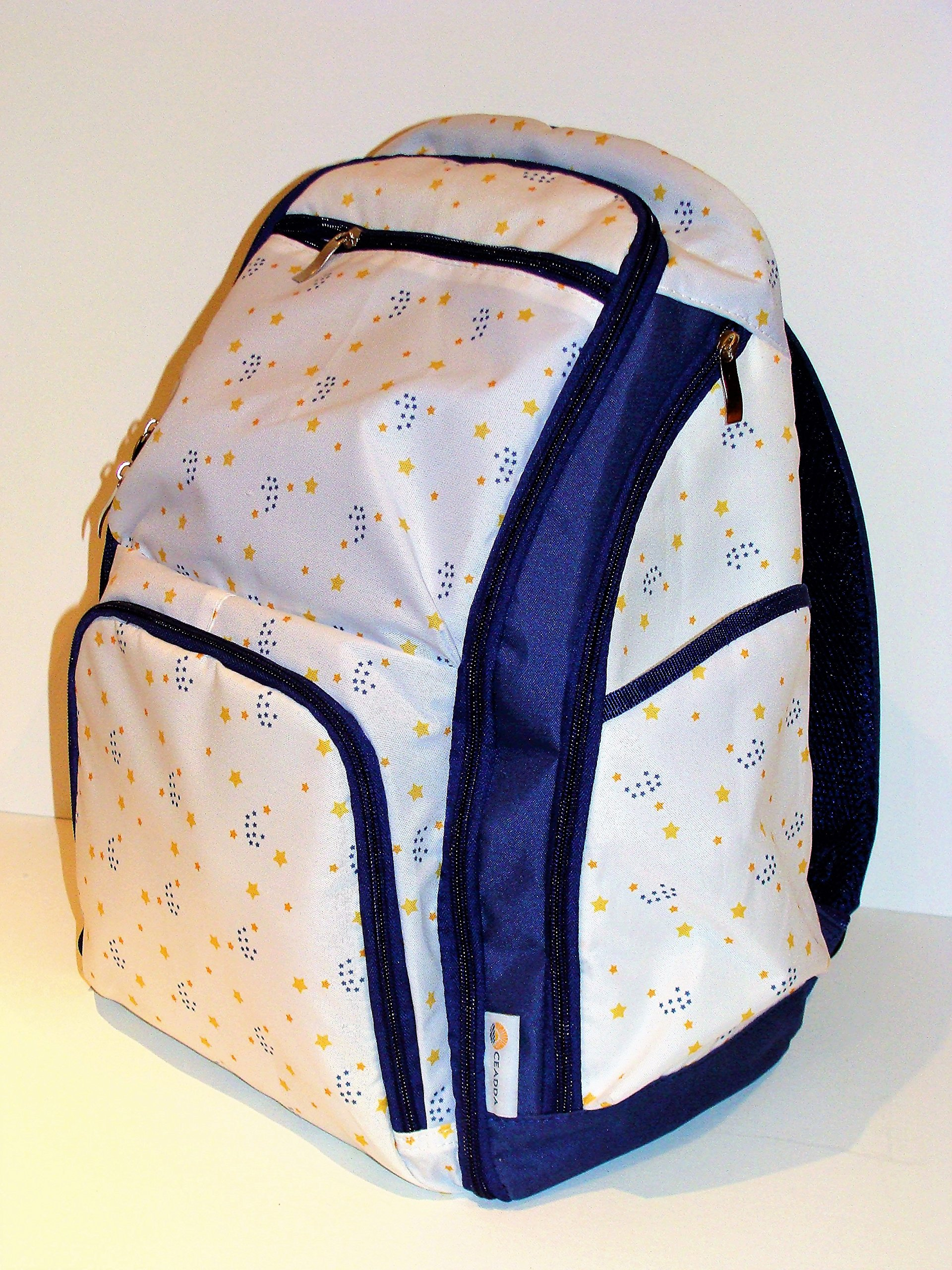 FLASH SALE!!!! Large Capacity Designer Baby Travel Diaper Nappy Backpack Bag Durable Lightweight Easy Clean Fabric Stroller Straps Insulated Storage Pocket Padded Carry Back Bonus Changing Mat