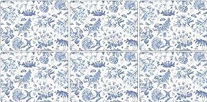 Portmeirion Botanic Blue 6 Placemats 30.5cm by 23cm