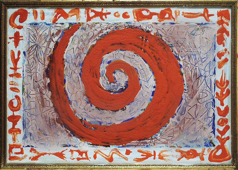 Composición 3 (57 x 40) Cuadro original, pintura (painting) en lienzo (canvas) bastidor de madera, Acrílico y Óleo, pintado a mano, arte contemporáneo, decoración hogar, regalo para pared salón. Espir