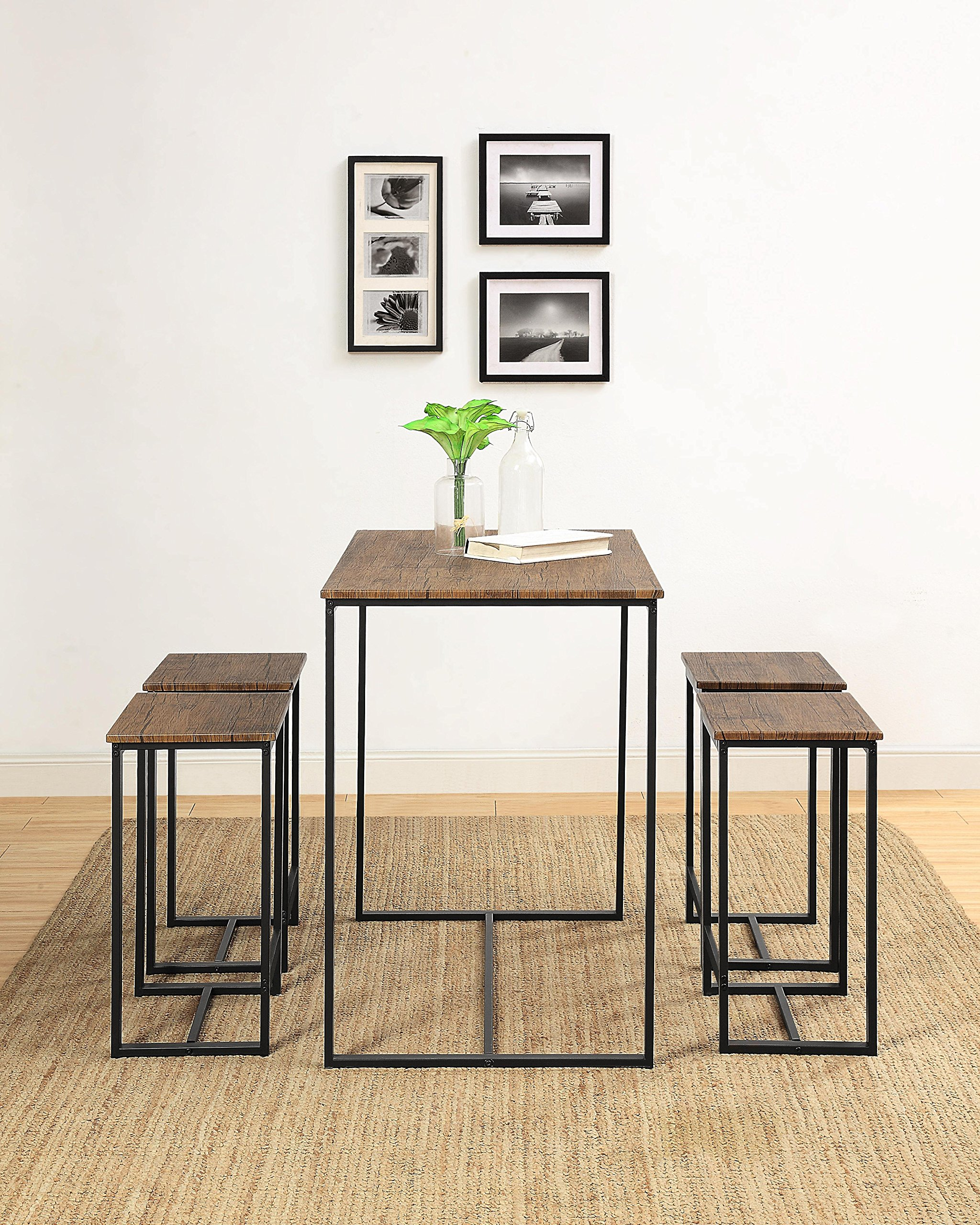 Abington Lane Kitchen Table Set - Versatile, Tall, Modern Table Set for Any Room or Occasion (4 Stools) by Abington Lane (Image #4)