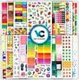 Planner Stickers (1k+ pcs Value Pack) - New Functional & Decorative Designer Stickers for Bullet Journals, Planners & Calendars for Happy Planning - Planner Accessories by Vladi Creative