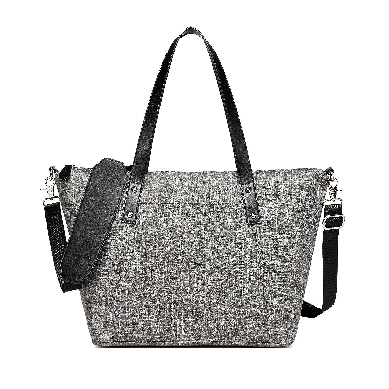 5c51552510 Amazon.com   CheekyTummy Baby Diaper Tote Bag with Matching Changing Pad - Best  Designer Ladies Handbag (Gray)   Baby