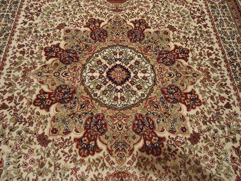 Amazon.com: Silk Ivory Rugs Persian Tabriz Rug 7x10 Living Room Rugs  Traditional Luxury 6x9 Area Rugs Living Room Carpet White Area Rugs (Large  7u0027x10u0027): ...