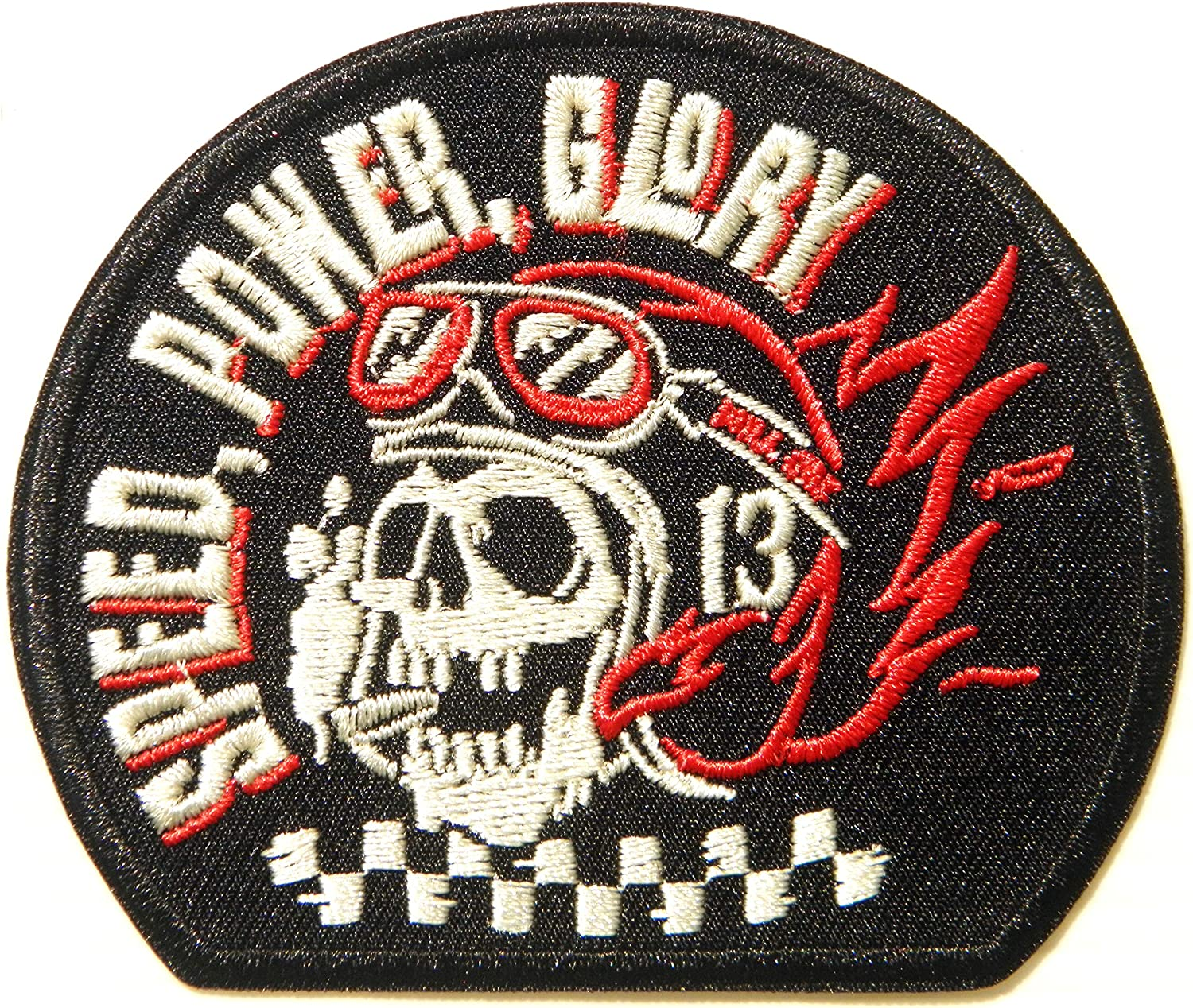 AUTOMOTIVE PACTH CAFE Speed Power Glory Biker Racer Motorcycles Patch Sew Iron on Transfers Applique Embroidered Racing Garage T Shirt Jacket Costume Clothe Fabric Accessories Badge Sign Logo Emblem