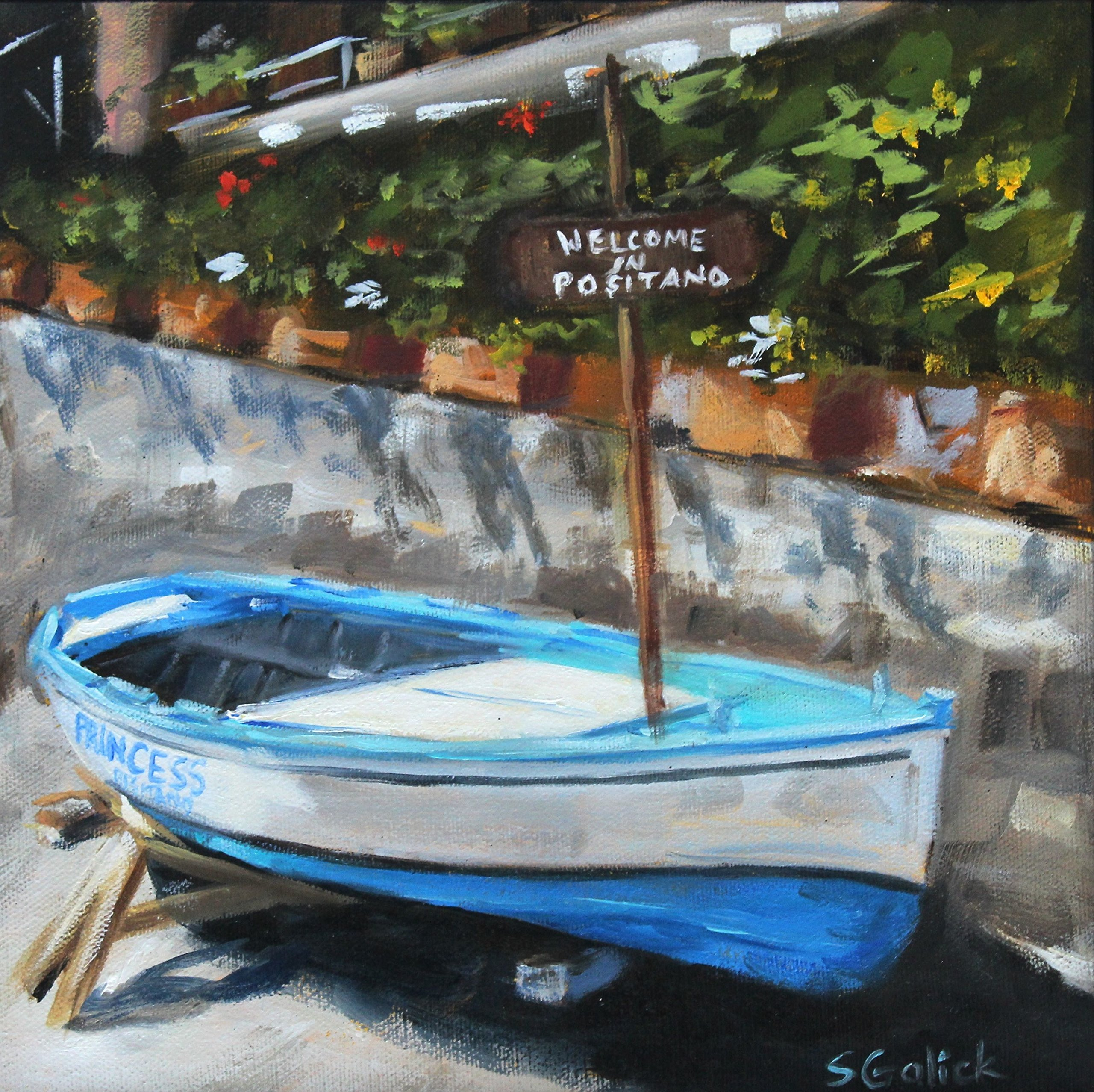 Positano Rowboat by