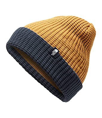 ded9313496c2b The North Face Youth TNF Waffle Beanie - Golden Brown   Cosmic Blue - S