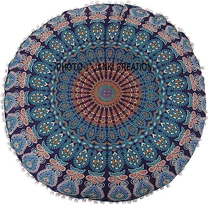10 pcs Lot Bohemian Large Mandala Square Floor Pillow Throw Case Indian Cushion