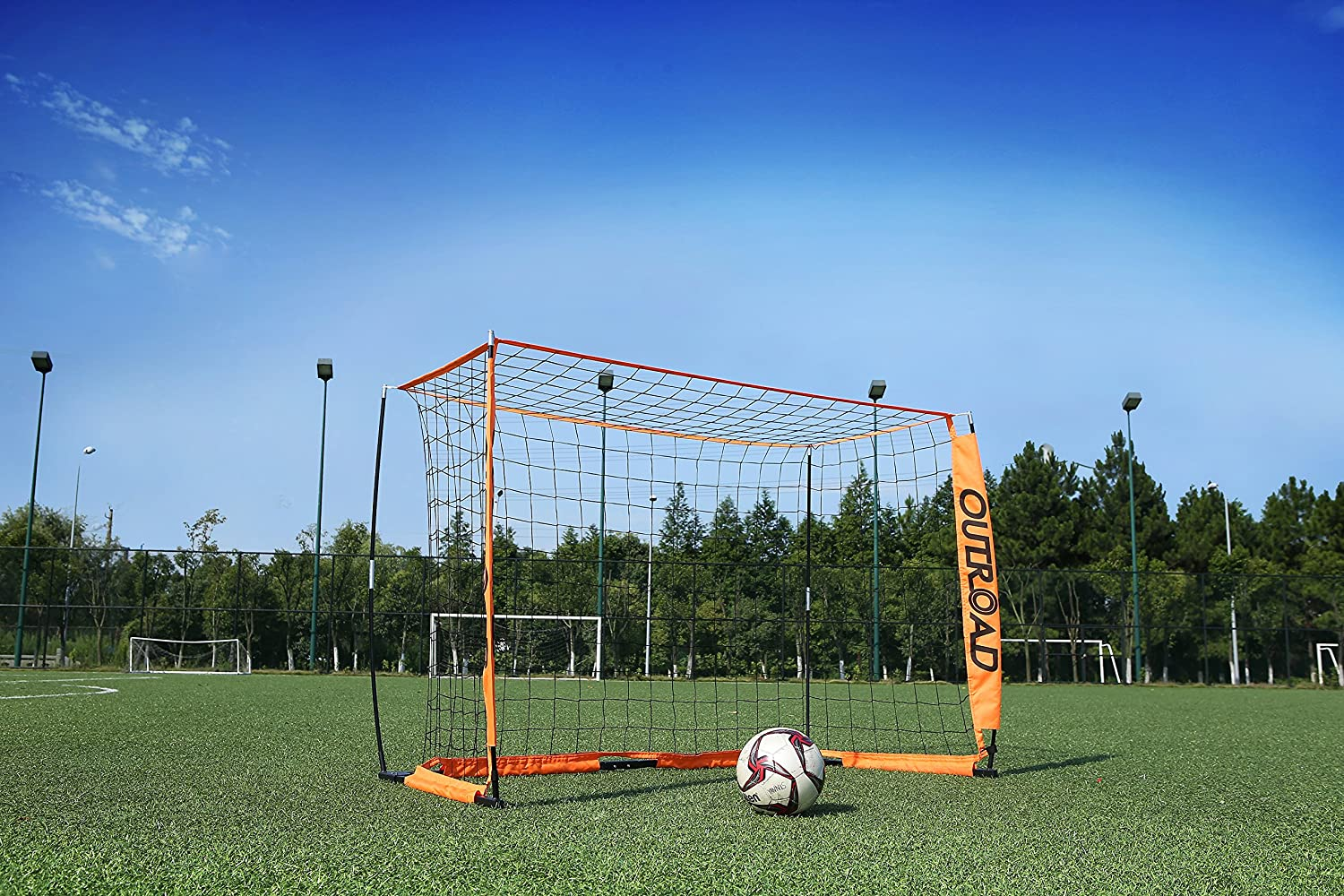 amazon com outroad portable 6x4 ft soccer goal practice bow