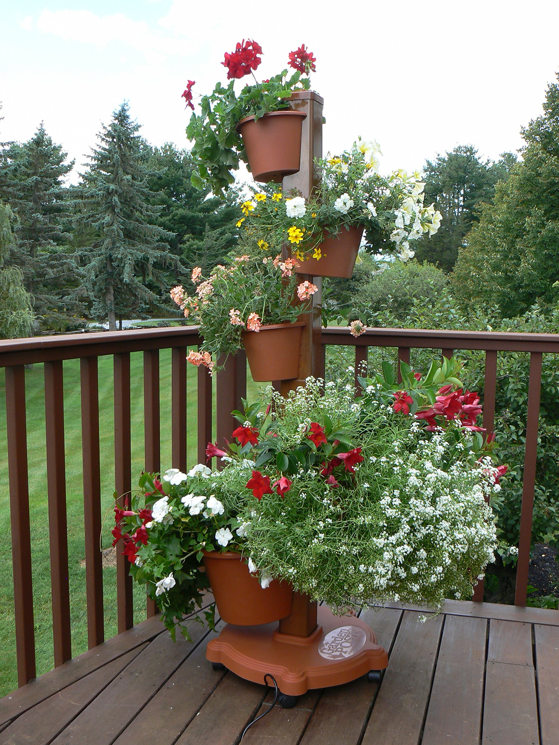 My Garden Post 5 Planter Vertical Gardening System with Drip Irrigation Finish, Terracotta by My Garden Post