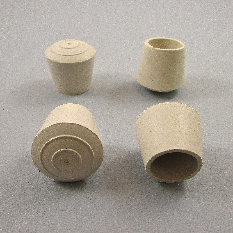 25 pezzi - Piedino, puntale calzante di gomma per sedie, mobili, tubo di diam. 22 mm - BIANCO PLAST2B