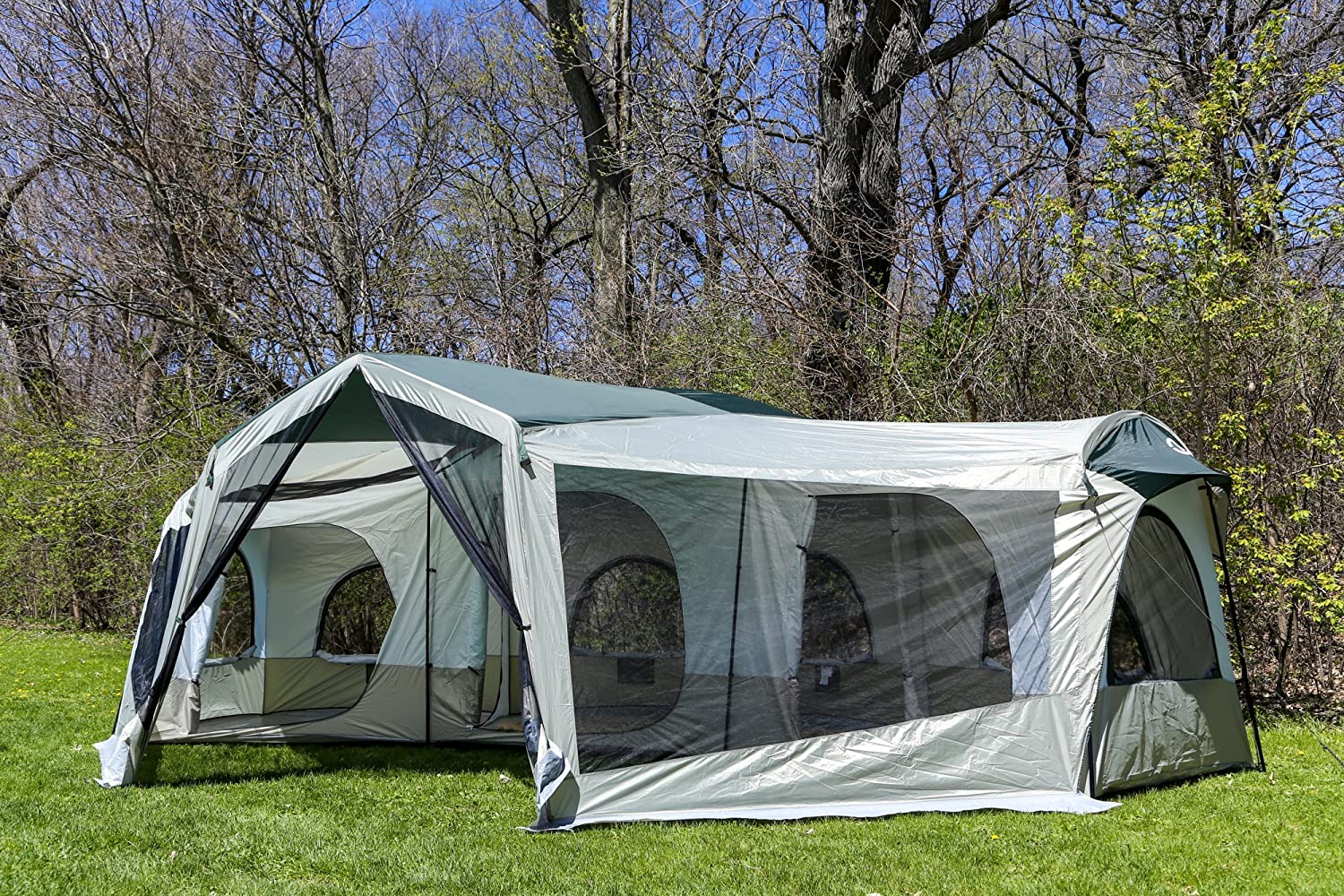 Merveilleux Amazon.com : Tahoe Gear Carson 3 Season 14 Person Large Family Cabin Tent |  TGT CARSON 18 : Sports U0026 Outdoors