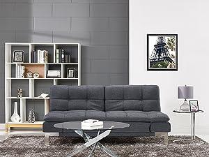 Amazon.com: Serta Westport Home Bella Contemporary Sofa Bed ...